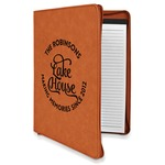 Lake House #2 Leatherette Zipper Portfolio with Notepad (Personalized)