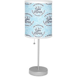 """Lake House #2 7"""" Drum Lamp with Shade (Personalized)"""
