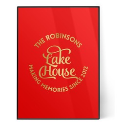 Lake House #2 5x7 Red Foil Print (Personalized)