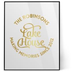 Lake House #2 8x10 Foil Wall Art - White (Personalized)