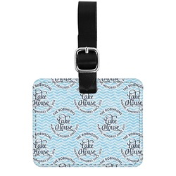 Lake House #2 Genuine Leather Rectangular  Luggage Tag (Personalized)