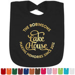 Lake House #2 Foil Baby Bibs (Select Foil Color) (Personalized)