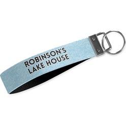 Lake House #2 Wristlet Webbing Keychain Fob (Personalized)
