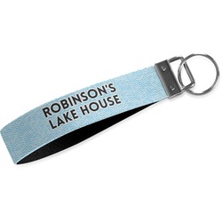 Lake House #2 Wristlet Webbing Keychain Fob (Personalized)