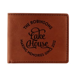 Lake House #2 Leatherette Bifold Wallet - Single Sided (Personalized)