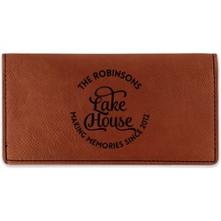 Lake House #2 Leatherette Checkbook Holder (Personalized)