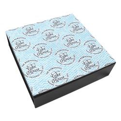 Lake House #2 Leatherette Keepsake Box - 3 Sizes (Personalized)