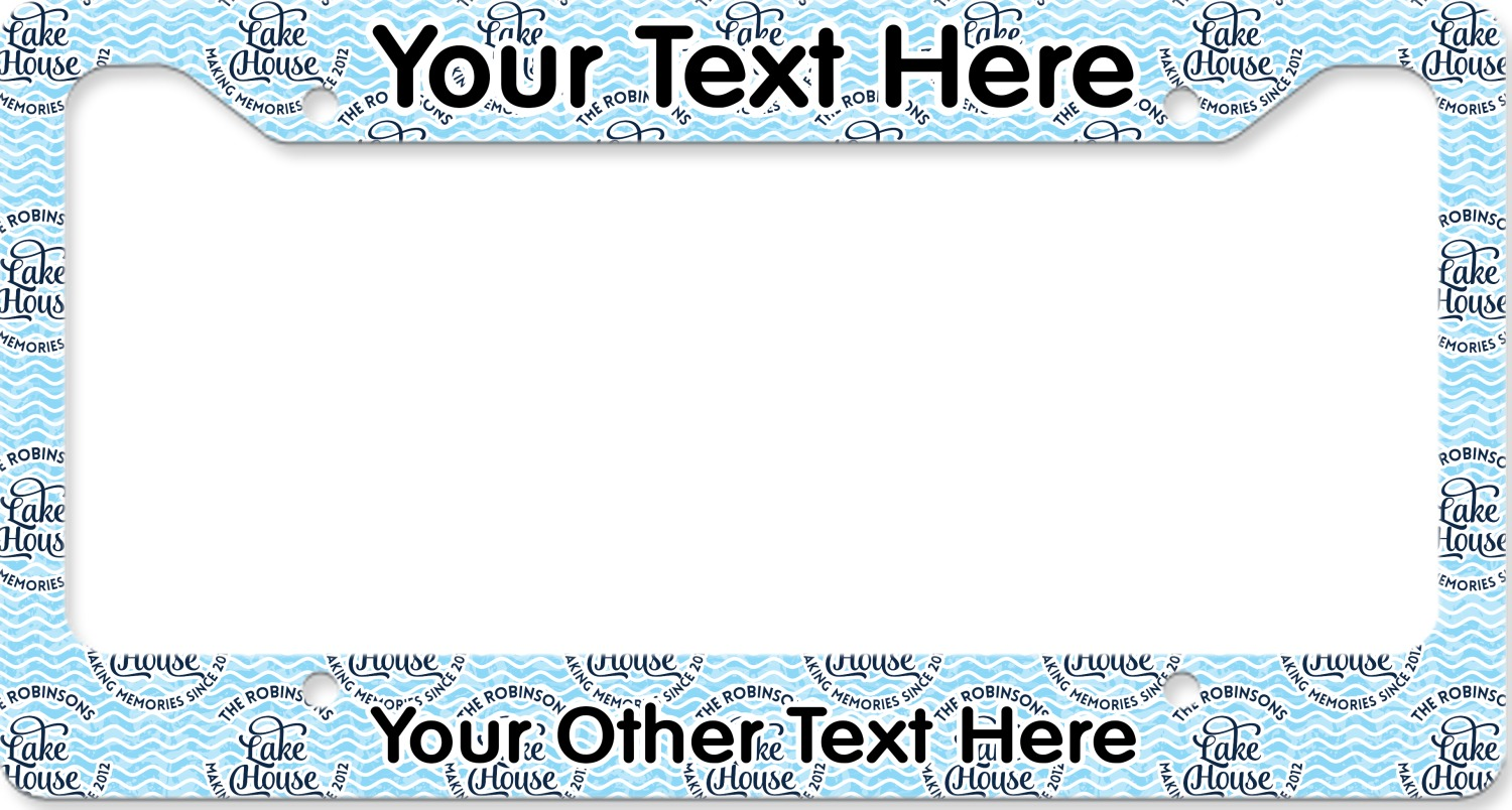 Lake House #2 License Plate Frame (Personalized) - YouCustomizeIt