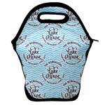 Lake House #2 Lunch Bag w/ Name All Over