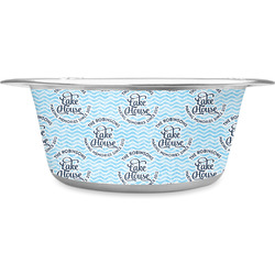 Lake House #2 Stainless Steel Dog Bowl (Personalized)