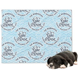 Lake House #2 Minky Dog Blanket (Personalized)