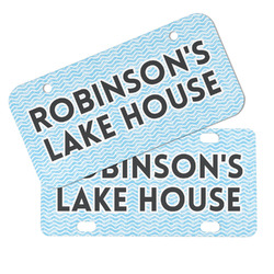Lake House #2 Mini/Bicycle License Plates (Personalized)