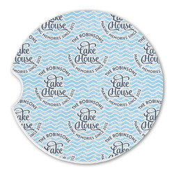 Lake House #2 Sandstone Car Coasters (Personalized)