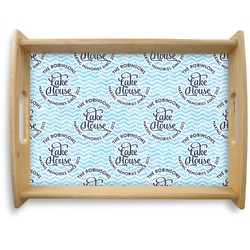 Lake House #2 Natural Wooden Tray - Large (Personalized)