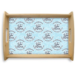 Lake House #2 Natural Wooden Tray (Personalized)