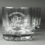 Lake House #2 Whiskey Glasses (Set of 4) (Personalized)