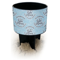 Lake House #2 Black Beach Spiker Drink Holder (Personalized)