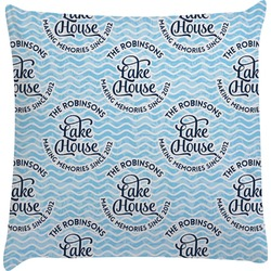 Lake House #2 Decorative Pillow Case (Personalized)