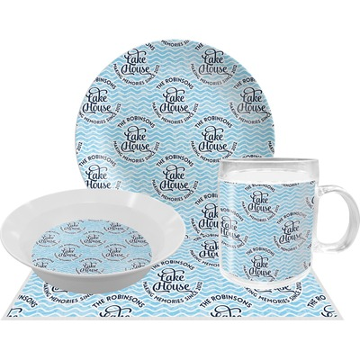 Lake House #2 Dinner Set - 4 Pc (Personalized)