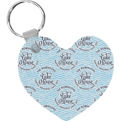 Lake House #2 Heart Keychain (Personalized)
