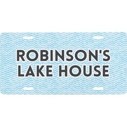 Lake House #2 Front License Plate (Personalized)