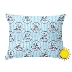 Lake House #2 Outdoor Throw Pillow (Rectangular) (Personalized)
