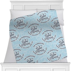 Lake House #2 Minky Blanket (Personalized)