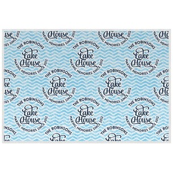 Lake House #2 Laminated Placemat w/ Name All Over