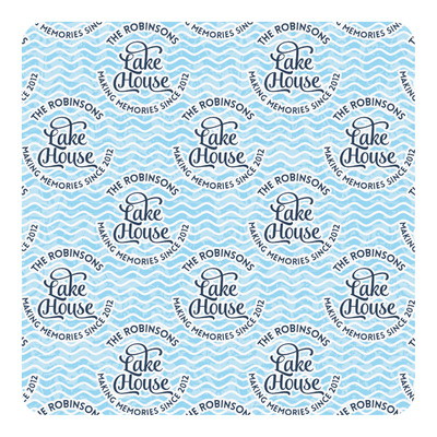 Lake House #2 Square Decal (Personalized)