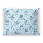 Lake House #2 Rectangular Throw Pillow Case (Personalized)