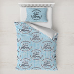 Lake House #2 Toddler Bedding w/ Name All Over