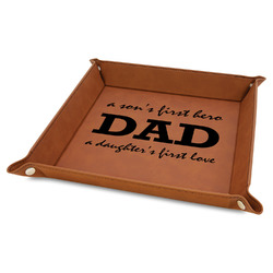 """Father's Day Quotes & Sayings 9"""" x 9"""" Leather Valet Tray"""