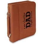 Father's Day Quotes & Sayings Leatherette Book / Bible Cover with Handle & Zipper (Personalized)