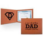 Father's Day Quotes & Sayings Leatherette Certificate Holder (Personalized)