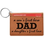 Father's Day Quotes & Sayings Leatherette Keychain ID Holder (Personalized)