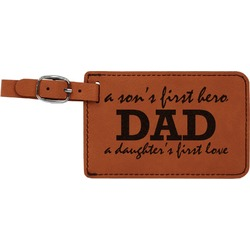 Father's Day Quotes & Sayings Leatherette Luggage Tag (Personalized)