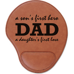 Father's Day Quotes & Sayings Leatherette Mouse Pad with Wrist Support (Personalized)