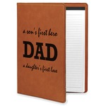 Father's Day Quotes & Sayings Leatherette Portfolio with Notepad (Personalized)