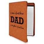 Father's Day Quotes & Sayings Leatherette Zipper Portfolio with Notepad (Personalized)