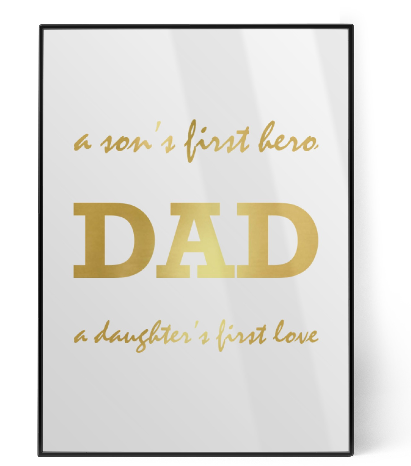 father s day quotes sayings foil print personalized youcustomizeit