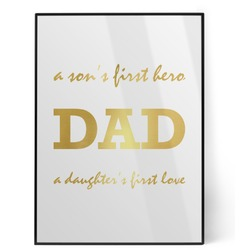 Father's Day Quotes & Sayings Foil Print (Personalized)