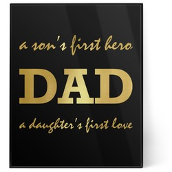 Father's Day Quotes & Sayings 8x10 Foil Wall Art - Black (Personalized)
