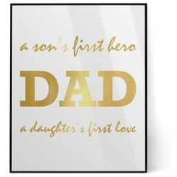 Father's Day Quotes & Sayings 8x10 Foil Wall Art - White (Personalized)