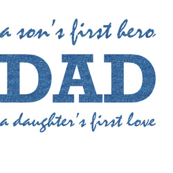 Father's Day Quotes & Sayings Glitter Sticker Decal - Custom Sized (Personalized)