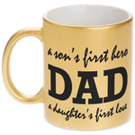 Father's Day Quotes & Sayings Gold Mug (Personalized)