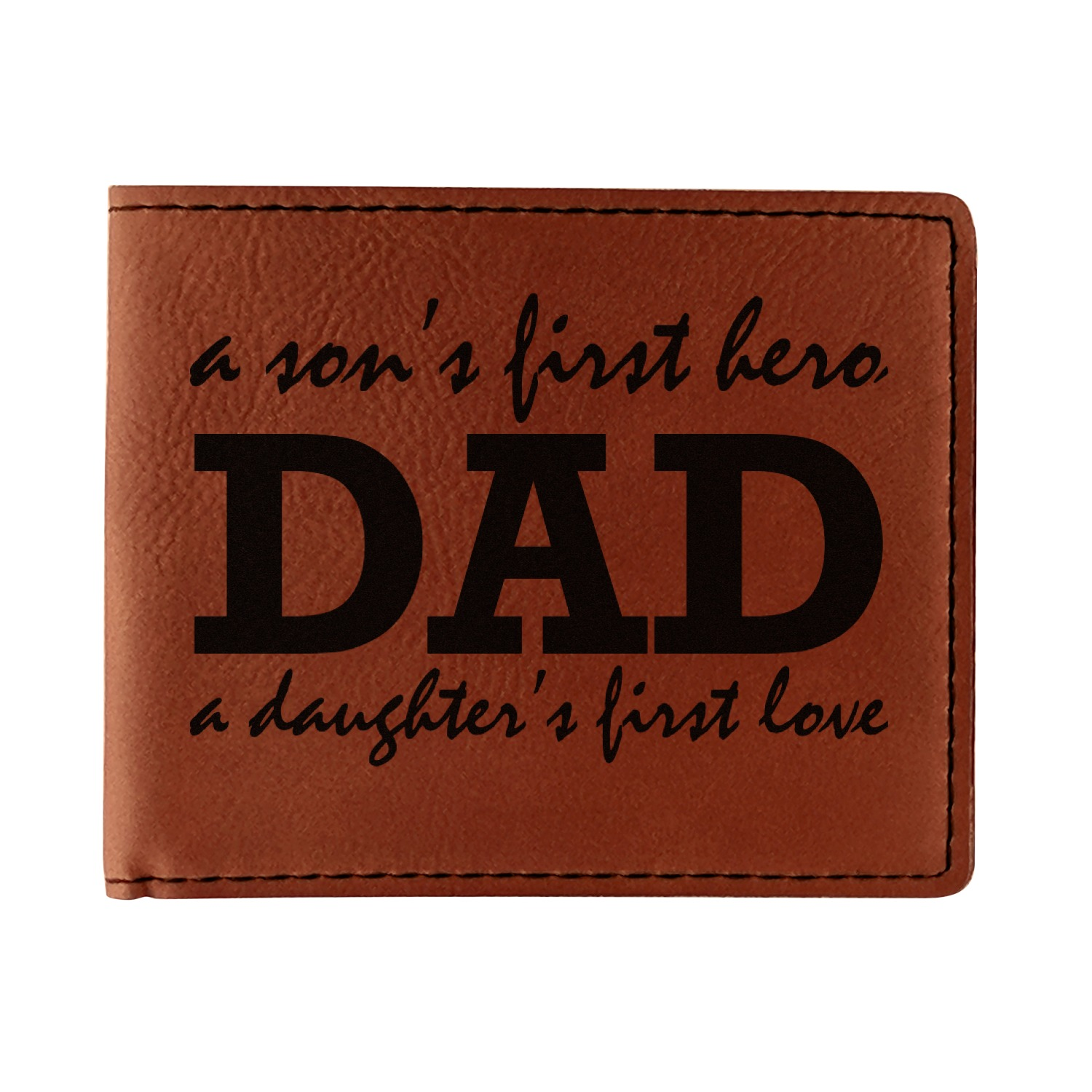 Father's Day Quotes & Sayings Leatherette Bifold Wallet (Personalized)
