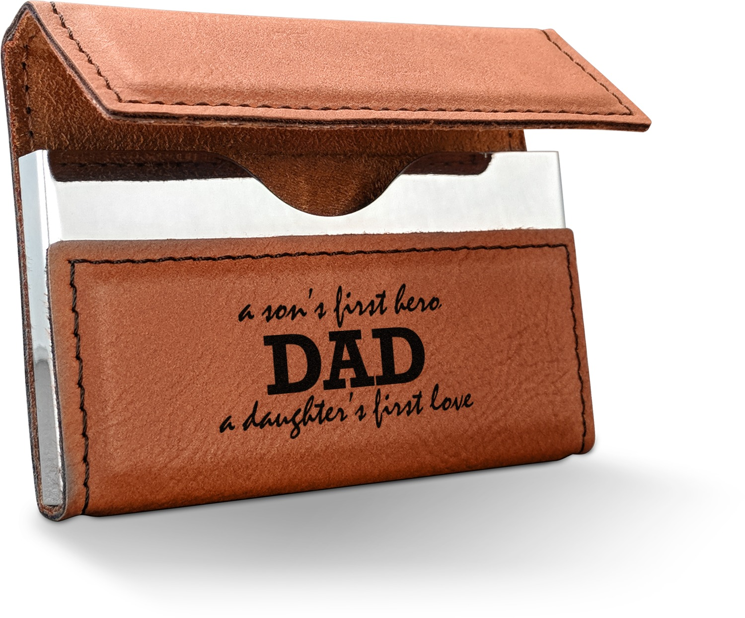 father s day quotes sayings leatherette business card holder