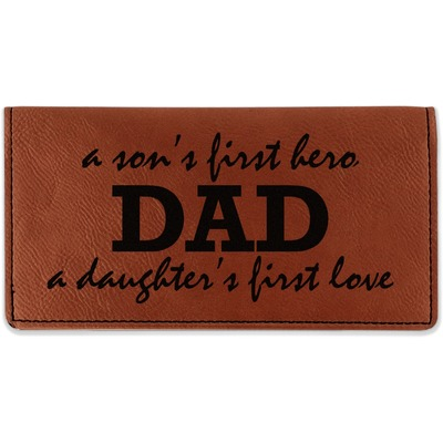 Father's Day Quotes & Sayings Leatherette Checkbook Holder (Personalized)