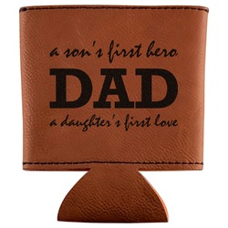 Father's Day Quotes & Sayings Leatherette Can Sleeve (Personalized)
