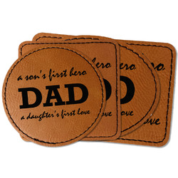 Father's Day Quotes & Sayings Faux Leather Iron On Patch